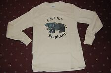 Endangered Animals Save the Elephant Long Sleeve T-shirt Adult Small