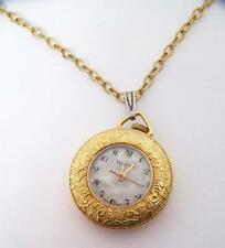 Gold Plated LUCERNE Ladies Pendant Winding Watch with 22 Inches Goldfilled Chain