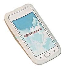 1 Silikon TPU Handy Cover Case Hülle Schale  in Weiß für Samsung i9000 Galaxy S