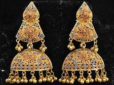 Stunning Dubai 22K Solid Gold Filigree Earrings 17.4 Grams
