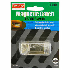 Prestige Magnetic Catch Brass Plated 46mm Self Aligning 4kg Pull Strength, Gold