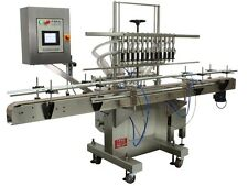 Automatic Inline Liquid Filler, 6 pressure nozzle and 10 feet conveyor, 304 SS