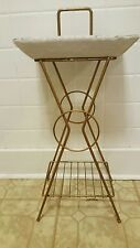 Vintage  Metal Magazine Rack Stand With Ash Tray.