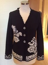 Olivier Philips Cardigan Size 14 BNWT Black Winter White RRP £157 Now £69