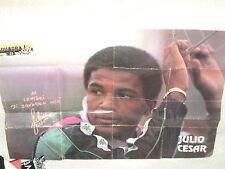 POSTER CALCIO ANNI '90 JULIO CESAR CON DEDICA E AUTOGRAFO - JUVENTUS