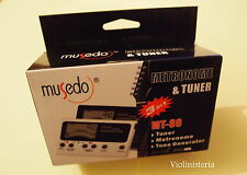 Electronic Metronome LED Clip on Violin Guitar Tuner Tone Generator, MT-80
