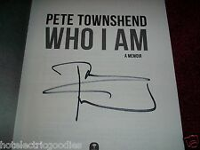 WHO I AM Pete Townshend Signed THE WHO Autographed in NYC Brand New! VIDEO PROOF