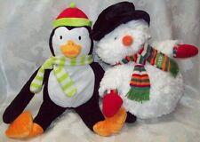 Penguin Snowman 1995 Kohls St Nicholas Square Soft Cuddly Winter Friends Vtg EUC