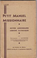 Petit Manuel Missionnaire  Œuvres Missionnaires  Missions catholiques -Lavarenne