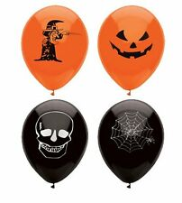 Confezione di 15 Halloween a Tema Party Palloncini-Web, Teschio, WITCH & JACK O'LANTERN!