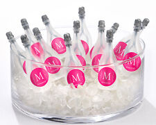 24 PERSONALIZED Monogram Champagne Bottle Bubbles Wedding Favors
