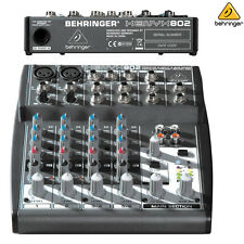 Behringer Xenyx 802 l Compact 8-Channel Audio Mixer NEW l Authorized Dealer