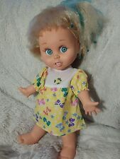 Galoob Baby Face Doll So Innocent Cynthia 1990 #7 Posable Blue Big Eyes Blonde