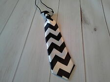 boys girls infant toddler child necktie chevron black photo prop wedding