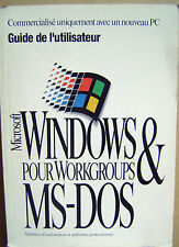 Guide de l'utilisateur Microsoft Windows pour Workgroups  MS-DOS /P15