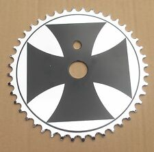 Iron Cross BMX Bike Chaining Sprocket 44 T Black On Silver