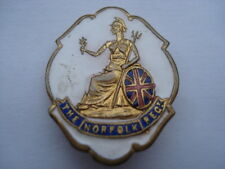 CWW1 VINTAGE THE NORFOLK REGIMENT WHITE FACED ENAMEL SWEETHEARTS PIN BROOCH