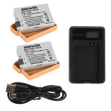 USB Battery Charger+2x 1200mAh Batteries for Canon EOS LP-E8 700D 650D 600D 550D