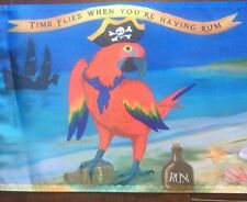 Summer Time flies When having rum parrot head 12 X 18 Nylon Flag boat garden siz