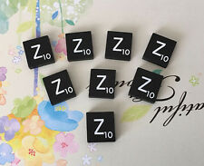 5 (FIVE) Letter Z, Black  Scrabble Tiles Letters, Individual, A to Z in Stock!