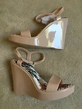 Melissa Shoes Look-a-like Beige Cream Strappy Wedge Platform Sandals Size 39