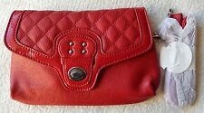 NEW Grace Adele TATE Scarlet Clutch Purse Bag with 22 inch detachable strap