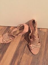Gorgeous Pink Leather Raxmax Heels Size 6 Worn Once