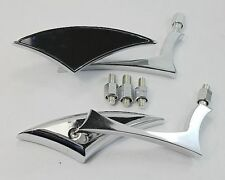 Chrome Blade Motorcycle Mirrors For Harley Dyna Softail Sportster Touring
