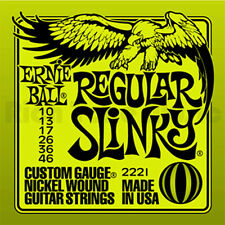 6 X ERNIE BALL REGULAR SLINKY GUITAR STRINGS 10's (6 sets)