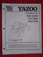 YAZOO PSR 50RD RIDING MOWER CUTTING SECTION / DECK PARTS MANUAL