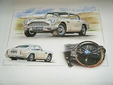 ASTON MARTIN DB6 STUNNING LIMITED EDITION PRINT CELEBRATION WONDERFUL