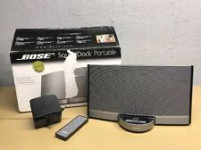 Bose Sounddock Portable iPod/iPhone Black With Original Box Amazing Sound!