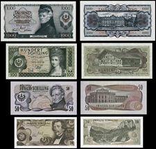 s10   4 Stück Banknoten aus Österreich 1966-1970   Repro