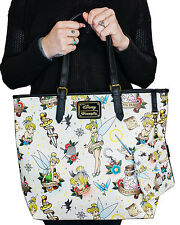 Loungefly Disney Tinker Bell Peter Pan Fairy Tattoo Shoulder Tote Bag Purse