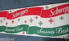 SCHWEPPES SEASON'S BEST CHRISTMAS PAPER CORRUGATED 20 FOOT ADVERTISEMENT SIGN