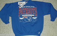 New England Patriots sweatshirt Vintage 90s Crew Neck Large New with Tags NFL DS