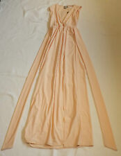 BNWT ASOS UK 10 EUR 38 US 6 PEACH SLEEVELESS WRAP MAXI LONG EVENING DRESS