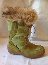 Wave Green Ankle Suede Boots Size 36