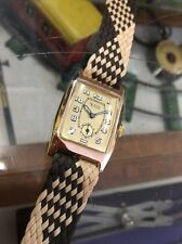 Tudor Rolex 9ct Tonneau Gold Wrist Watch Restored