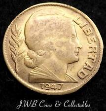 1947 Argentina 10 Centavos Coin