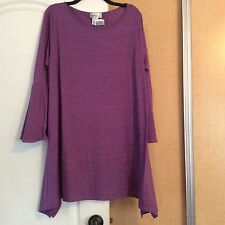 New Hot Ginger - Purple Asymmetric Women Tunic Top Plus Size 1X USA