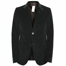 GUCCI $1,700 black corduroy slim fitted sportcoat blazer dinner jacket 40/50 7R