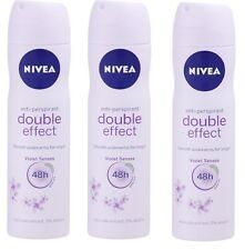 3 NIVEA DOUBLE EFFECT VIOLET SENSES DEODORANT ANTIPERSPIRANT FOR WOMEN 5.07oz