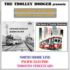 Vintage North Shore Line, Pacific Electric & Toronto Streetcars Trolley Audio CD