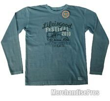 LIFE IS GOOD 'FESTIVAL 2010' LONG SLEEVE CRUSHER TEE T-SHIRT MEN'S SMALL  NEW!