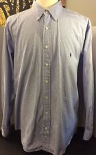 Ralph Lauren Polo Men Casual Shirt Size 2XB BIG 100% Cotton Classic Fit