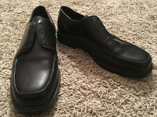 Hush Puppies Men's Lace Up Oxfords Black Leather Casual Shoes, Size 10EW