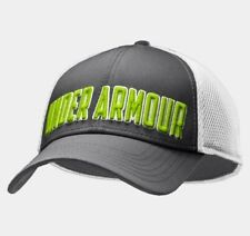 NWT Under Armour Men's UA Stand Out Stretch Fit Cap Combo MD/L Graphite/Green