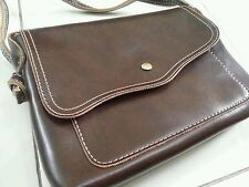 New Leather  Sling Bag in Brown