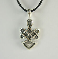 Celtic Knot Warrior Spirit Pendant Necklace 925 Sterling Silver USA Mens Jewelry